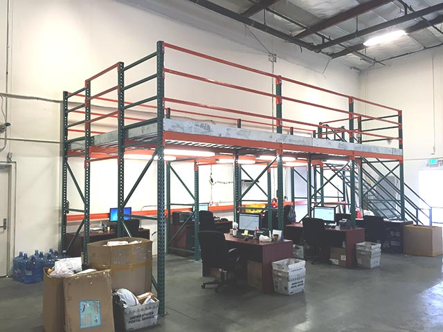 Industrial mezzanines can transform your warehouse qmh inc for How to build a mezzanine floor in your home